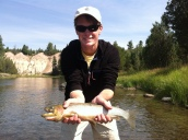 another blackfoot river cutthroat on the fly
