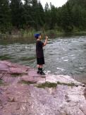 flyfishing the blackfoot river at rainbow bend drive