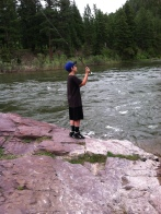 flyfishing the blackfoot river at rainbow bend drive