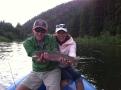 rainbow trout on a dry fly near rainbow bend drive