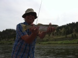 you can always get a nice rainbow flyfishing the missouri